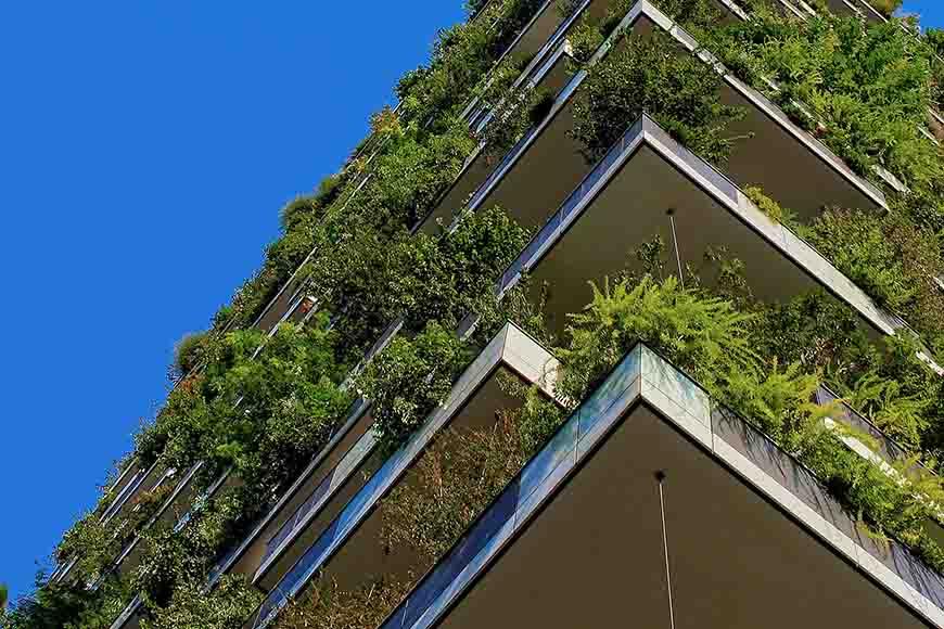 Zelenilo i bašte na zgradi